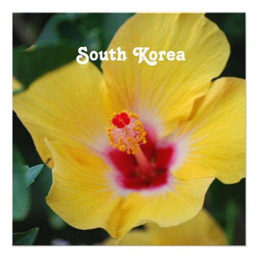 South Korean Hibiscus Invitations