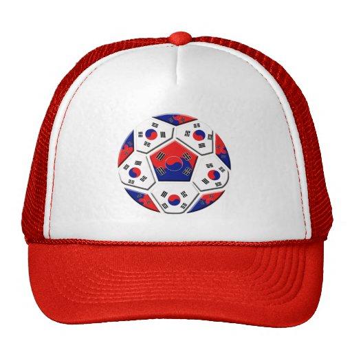 South Korean Soccer Ball flag of Korea Gifts Trucker Hat
