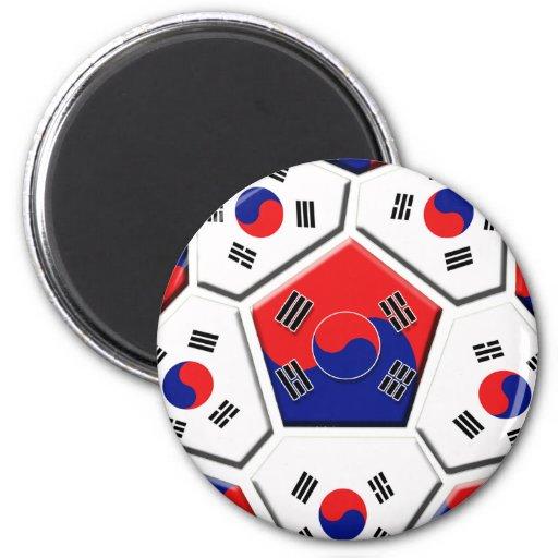 South Korean Soccer Ball flag of Korea Gifts Refrigerator Magnets