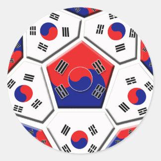 South Korean Soccer Ball flag of Korea Gifts Sticker