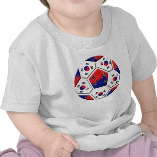 South Korean Soccer Ball flag of Korea Gifts Tees