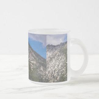 South Lake Tahoe Cascade Mountain Frosted Glass Mug