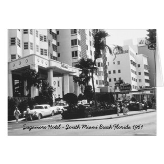 South Miami Beach Florida Greeting Card