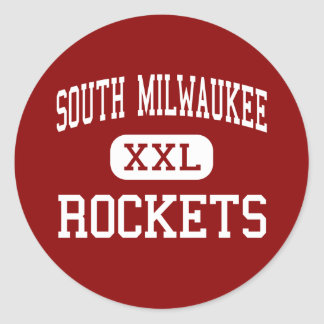 South Milwaukee - Rockets - South Milwaukee Round Sticker