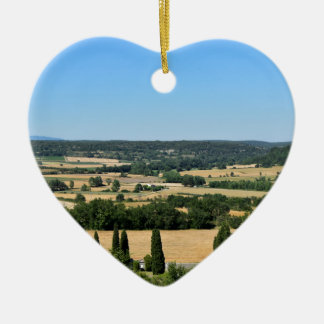 South of France field Ceramic Heart Decoration