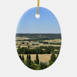 South of France field Ceramic Oval Decoration