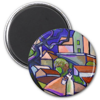 SOUTH OF FRANCE PRINT 6 CM ROUND MAGNET
