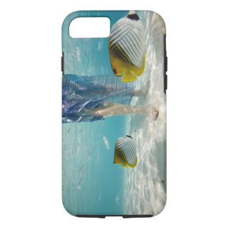 South Pacific, Bora Bora, female tourist walking 2 iPhone 7 Case