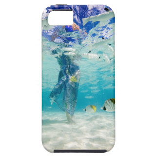 South Pacific, Bora Bora, female tourist walking Case For The iPhone 5