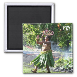 South Pacific Fire Walk Dance Square Magnet