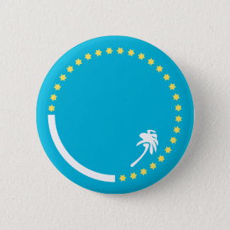 South Pacific Flag 6 Cm Round Badge
