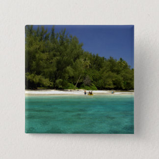 South Pacific, French Polynesia, Moorea 15 Cm Square Badge