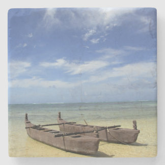 South Pacific, French Polynesia, Moorea. Stone Coaster