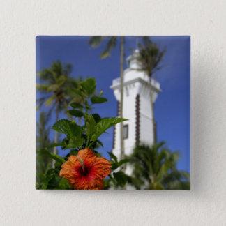 South Pacific, French Polynesia,Tahiti. Hibiscus 15 Cm Square Badge