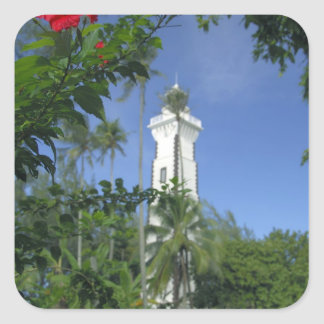South Pacific, French Polynesia,Tahiti. Hibiscus 2 Square Sticker