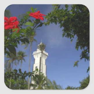 South Pacific, French Polynesia,Tahiti. Hibiscus 3 Square Sticker