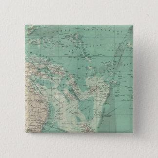 South Pacific Ocean 15 Cm Square Badge