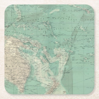 South Pacific Ocean Square Paper Coaster