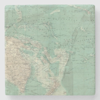 South Pacific Ocean Stone Coaster