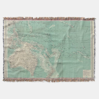 South Pacific Ocean Throw Blanket