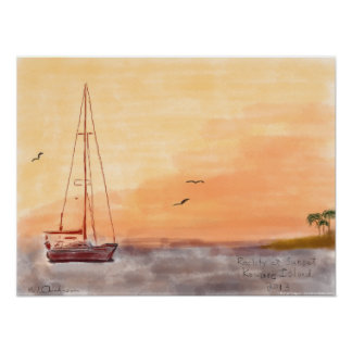 South Pacific Sunset Dreaming Print