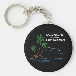 South Pacific, The Musical Basic Round Button Key Ring