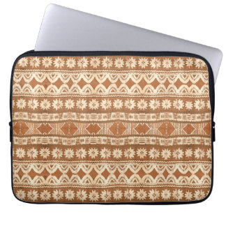 South Pacific Tribal Wood Pattern Laptop Sleeve 13