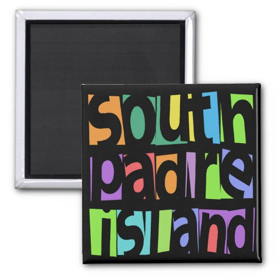 South Padre Island Square Magnet