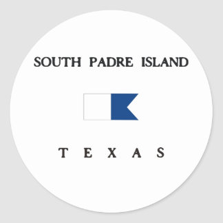 South Padre Island Texas Alpha Dive Flag Round Stickers