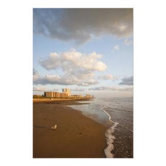 South Padre Island, Texas, USA resort hotels, Photographic Print