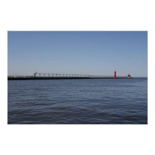 South Pier and Lighthouse; Grand Haven, Michigan Poster