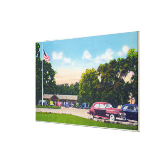 South Point Parking Area Scene Canvas Print