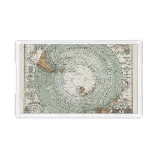 South Polar Region Map Acrylic Tray