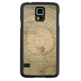 South Polar Region Map Carved Maple Galaxy S5 Case
