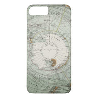 South Polar Region Map iPhone 8 Plus/7 Plus Case