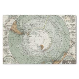 South Polar Region Map Tissue Paper
