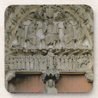 South Portal tympanum depicting Christ Enthroned w Coaster