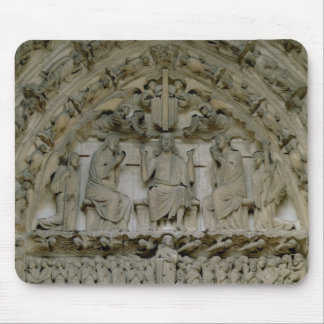 South Portal tympanum depicting Christ Enthroned w Mouse Mat