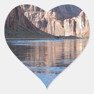 South Rim Grand Canyon Colorado River Heart Sticker