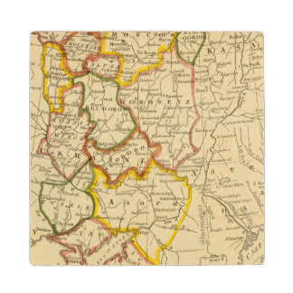 South Russia in Europe Maple Wood Coaster