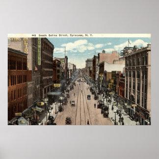 South Salina St Syracuse NY Vintage 1917 Print