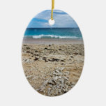 South Sea Island Beach, Fiji Ceramic Oval Decoration