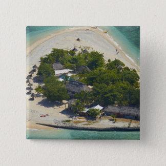 South Sea Island, Mamanuca Islands, Fiji 15 Cm Square Badge