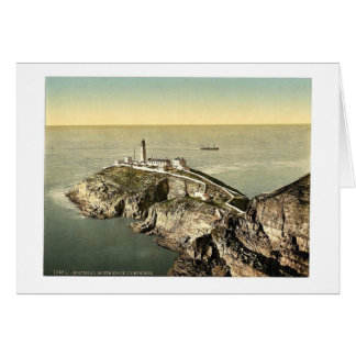South Stack Lighthouse, Holyhead, Wales rare Photo Greeting Card
