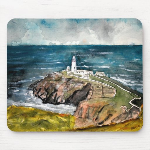 south stack lighthouse united kingdom mouse pad