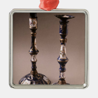 South Staffordshire pair of candlesticks, c.1765 Christmas Ornament