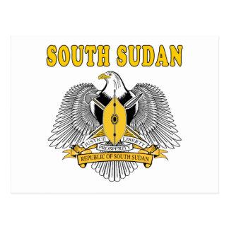 South Sudan Coat Of Arms Designs Postcard