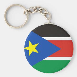 south sudan country long flag nation symbol key ring