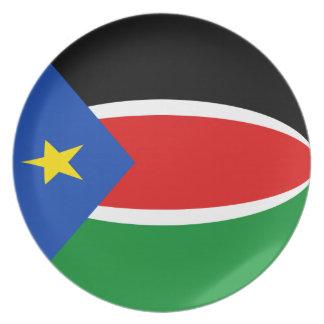 South Sudan Fisheye Flag Plate