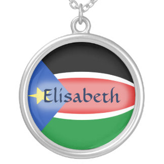 South Sudan Flag + Name Necklace